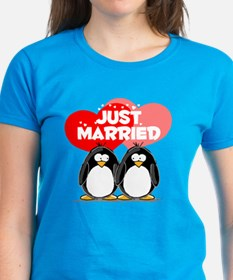 Just Married Penguins Tee