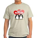 Just Married Penguins Light T-Shirt