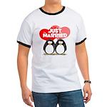 Just Married Penguins Ringer T