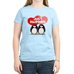 Just Married Penguins Women's Light T-Shirt
