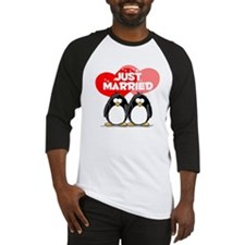 Just Married Penguins Baseball Jersey