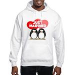 Just Married Penguins Hooded Sweatshirt