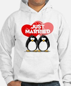 Just Married Penguins Hoodie