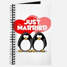Just Married Penguins Journal