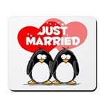 Just Married Penguins Mousepad