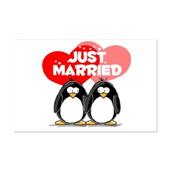 Just Married Penguins Posters