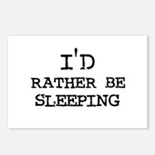 I'd rather be Sleeping Postcards (Package of 8)