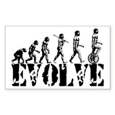 Unicycle Unicycling Unicyclist Rectangle Decal