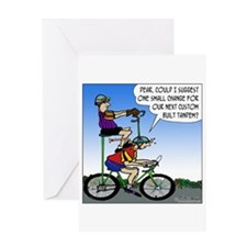 Custom Tandem Greeting Card