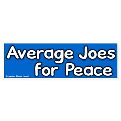 Average Joes for Peace Bumpersticker