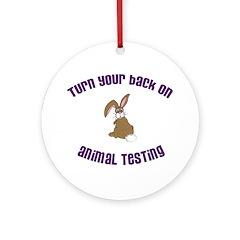 Rabbit turn yr back (ASPCA) Ornament (Round)