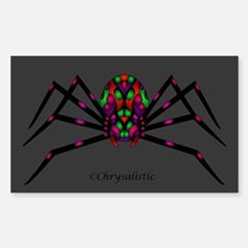 Harlequin Spider Rectangle Decal