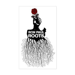 Ron Paul Roots Rectangle Decal