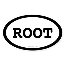 Root Oval Decal