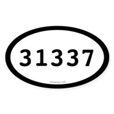 31337 Eleet Oval Decal