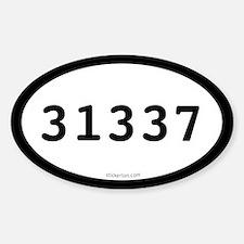 31337 Eleet Oval Decal