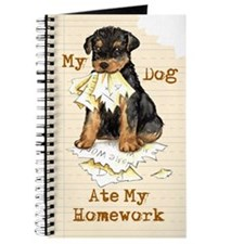Airedale Ate Homework Journal
