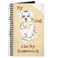 Maltese Ate Homework Journal