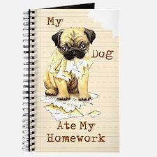 Pug Ate Homework Journal