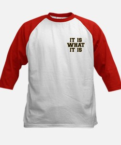 It Is What It Is Black and Go Kids Baseball Jersey