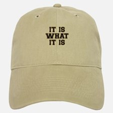 It Is What It Is Black and Gold Cap
