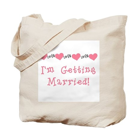 I'm Getting Married (coral) Tote Bag