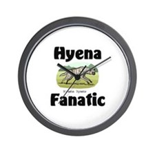 Hyena Fanatic Wall Clock