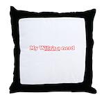 My Wife's A Nerd Throw Pillow