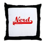 Softball Nerd Throw Pillow