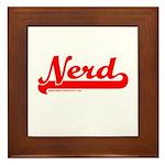 Softball Nerd Framed Tile