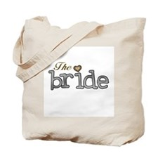 Silver and Gold Bride Tote Bag