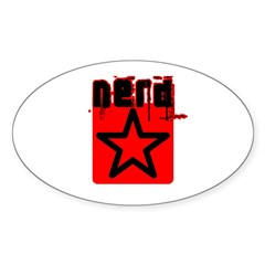 Nerd Star T Oval Decal