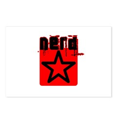 Nerd Star T Postcards (Package of 8)