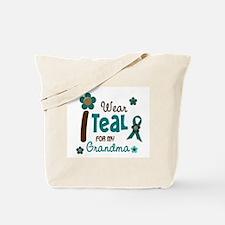 I Wear Teal For My Grandma 12 Tote Bag