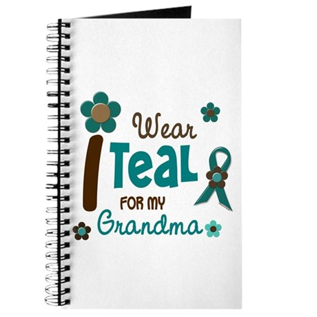 I Wear Teal For My Grandma 12 Journal