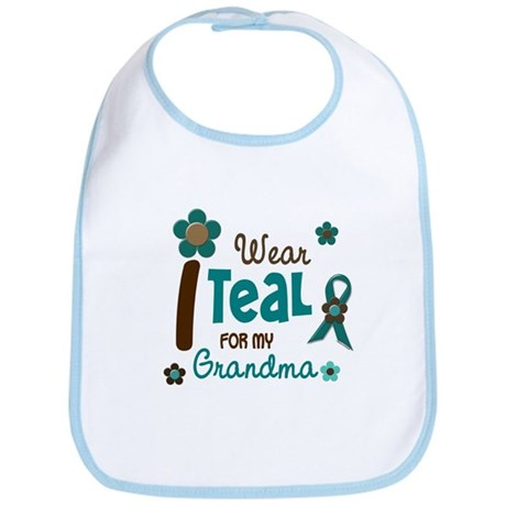 I Wear Teal For My Grandma 12 Bib
