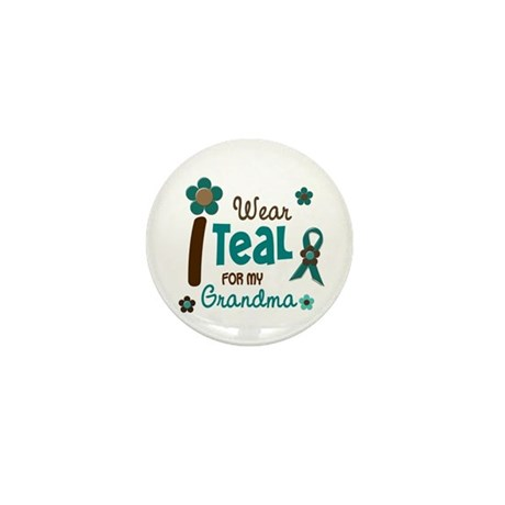 I Wear Teal For My Grandma 12 Mini Button (100 pac