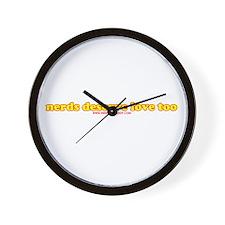 Nerds Deserve Love Too Wall Clock