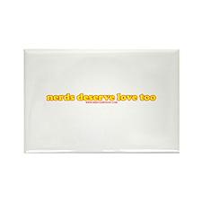 Nerds Deserve Love Too Rectangle Magnet (100 pack)