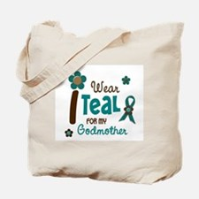 I Wear Teal For My Godmother 12 Tote Bag