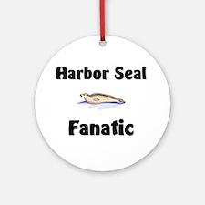 Harbor Seal Fanatic Ornament (Round)