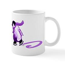 Purple Penguins on Ice Mug