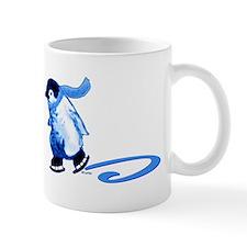 Blue Penguins On Ice Mug