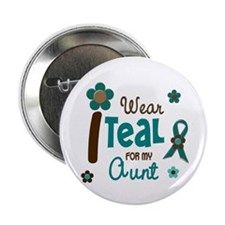 "I Wear Teal For My Aunt 12 2.25"" Button"