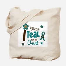 I Wear Teal For My Aunt 12 Tote Bag