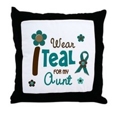 I Wear Teal For My Aunt 12 Throw Pillow