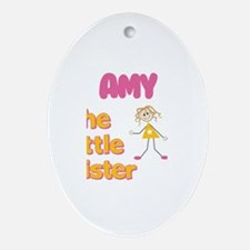 Amy - The Little Sister Oval Ornament