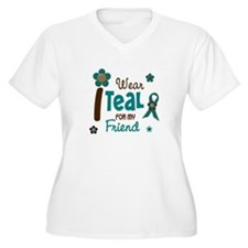 I Wear Teal For My Friend 12 T-Shirt