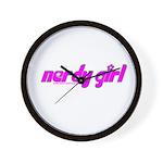 Nerdy Girl Wall Clock