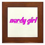 Nerdy Girl Framed Tile